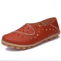 mode pflege schuhe großhandel-Damen Lederschuhe neue Fahren Lok Fu Schuhe weichen Boden Krankenschwester Schuhe Mode Größe 35-44 X112