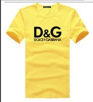 yaz için köpek giysileri toptan satış-19ss Yaz Tasarımcı Lüks Pamuk Giyim T-shirt Erkek Kadın Sıkıntılı Logo Baskı T-shirt köpek baskı Tee Tişörtleri bayan giyim Tops