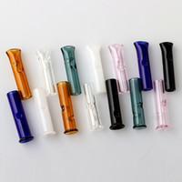 sigara filtresi ipuçları toptan satış-6mm 8mm Mini Cam Filtre İpuçları Için Düz Yuvarlak Ağız Ile RAW Yuvarlanan Kağıtları Tütün Sigara Tutucu Pyrex Cam Tüp Filtre Sigara İpuçları