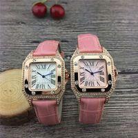 lederarmbänder diamanten großhandel-Marke Auto Ballon Luxus Uhren Dame Silber Lederband Uhren Diamant Armbanduhr Frauen Armband Designer Uhr Multicolor Drop Shipping