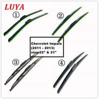 """LUYA Four kinds of wiper Blade in Car windshield wiper For Chevrolet Impala (2011 - 2013) size:22"""" & 21"""""""