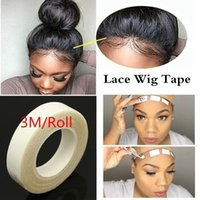 Wholesale wig weft extension resale online - 2Roll Wig Tape m Roll Salon Sticky Long Lasting Waterproof Hair Extension Adhesive Double Sided Tape Lace Glue Tape for Weft Wig no W