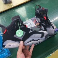 demir grisi toptan satış-2019 Yeni Varış 6 x PSG Erkek Basketbol Ayakkabıları Demir Gri Kızılötesi 23 Siyah 6 s VI Sepetleri Spor Eğitmenler Paris Aziz Germain Sneakers