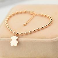 pulseiras de ouro buda venda por atacado-Moda Estilo de aço Inoxidável Rosa Banhado A Ouro Charme Pulseiras Bangles Buddha pulseiras de contas para as mulheres Por Atacado de Jóias M2509