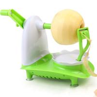 plastik elmalar toptan satış-El Kumandalı Meyve Soyma Yeşil Plastik Yarı Otomatik Elma Soyma Makinesi Mutfak Elma Soyucu Yeni Varış 9 8ch L1