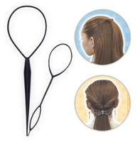 Wholesale pulling needles resale online - 2pcs set Multifunctional DIY Pull Hair Needle Multi Pony Arrange Stick Hair Care Styling Tools Hair Accessories HA052