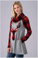 cuello de soporte superior largo al por mayor-Celebrar la Navidad 2020 El nuevo Amazonas Stand Alone de las mujeres populares collar de manga larga superior Milu suéter