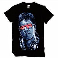 en iyi boyun tasarımları toptan satış-Özel erkek T-shirt - Tony Montana - Scarface - Tasarım (Sb005) En Kaliteli T Shirt Erkek O Boyun Erkek En Çok Satan Tişörtlü