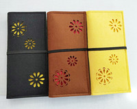 filzkupplung großhandel-Vintage Filz Brieftasche Fall aushöhlen Blume Clutch Bag mit elastischem Wrap Round Strap Cash ID-Kartenhalter Handyhülle Lange Brieftasche