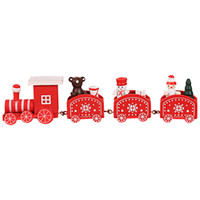 Wholesale mini wooden christmas tree decorations for sale - Group buy 1X Merry Christmas Mini Wooden Train Tree Ornament Christmas Decorations For Home New Year Decoration Kids Toy