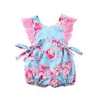 Wholesale pretty clothing for sale - Group buy Pretty Girl Princess Dress Lace Romper Newborn Baby Girls Floral Bodysuit Jumpsuit Sunsuit Dresses Outfits Clothes M