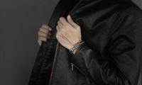 pulsera de plata para hombre al por mayor-Pulsera para hombre del acero inoxidable 316L de plata curvadas del color pulseras encintado cadena de acoplamiento para los hombres de 15 mm joyería al por mayor