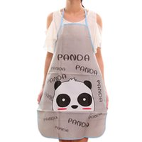 кухонный фартук пвх оптовых-Cartoon animal PVC Waterproof Apron Kitchen Restaurant Cooking Bib Aprons