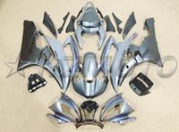 yamaha r6 gri toptan satış-Yeni Enjeksiyon Fairing kiti YAMAHA YZF 600 R6 06 07 için fit YZF-R6 2006 2007 YZF 600 Motosiklet ABS Marangozluğu set özel mat gri