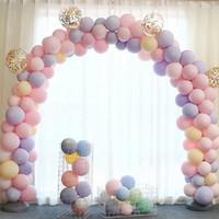 ingrosso valentines lattice palloncini-Party 100pcs 10inch Macaron Colore Latex Palloncini Decorazione di cerimonia nuziale Festa di compleanno per bambini San Valentino Decorazione Palloncino