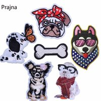 Wholesale clothing patches for sale for sale - Group buy Prajna Husky Patch Dog Bone Hot Sale Stickers Clothes Iron On Patches For Clothes Embroidered Sew On Applique DIY parches D
