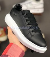 Wholesale lace up dress shoes black resale online - 2019 Best Designer Comfort Pretty Womens Sneakers Casual Leather Shoes Solid Men Womens Platform Sneakers Dress Shoe Sports Tennis