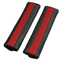 capas de assento preto vermelho para carros venda por atacado-Fecho destacável Vermelho Preto Cinto Cinto de Segurança Almofada Do Assento de Carro Cinto de Segurança Cintos de Ombro Acolchoado Carro ACESSÓRIOS