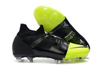 Wholesale high ankle superfly football boots resale online - 2019 mens high ankle soccer shoes Mercurial Greenspeed FG soccer cleats leather Mercurial Superfly GS football boots Tacos de futbo