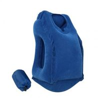 Wholesale travel blue inflatable neck pillow resale online - Inflatable Air Travel Pillow Airplane Neck Head ChinMulti function Cushion Diverse Innovative Office Nap Pillow PPA109