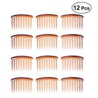 saçlar için küçük taraklar toptan satış-12 adet Saç Klip Combs 17 Diş Plastik Küçük Vintage Saç Tarak Pin Yan Combs Bayanlar Hizmetçi Kadınlar Kızlar için