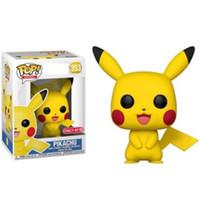 ingrosso pvc giapponese-FUNKO POP Giapponese Anime Cartoon Pikachu Vinyl Action Figures Brinquedos Collection Modello PVC bambole Giocattoli per Bambini regalo Di Compleanno C23
