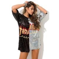 ropa de baile sexy de hip hop al por mayor-Loose Large DS Bar Lentejuelas Camiseta de mujer Jazz Dance Costumes Hip Hop Tops Sexy Nightclub Dress Cantante DJ Stage Show Wear PY152