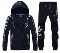 Wholesale Designer Tracksuit Best Version Spring Autumn Mens Tracksuits Fashion Zipper Suit Tops Pants Mens Casual Sweatshirt Sport Suits