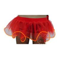 geführte bühnenkostüme großhandel-LED Flash Kurzen Rock Erwachsene Bühnenkostüm Für Halloween Party Karneval Reine Farbe Schöne Blase Röcke Party Supplies 28mzD1