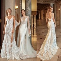 Wholesale lace side see through wedding dress for sale - Group buy 2020 Gorgeous Mermaid Wedding Dresses Sexy Sheer See Through Backless Bridal Gowns Floral Lace Bride Dress Vestidos Spaghetti De Noiva