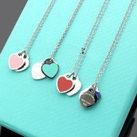 femmes bijoux achat en gros de-Have stamps 925 STERLING SILVER heart designer necklace for lady Design Womens Party Wedding engagement Luxury Jewelry for Bride