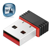 pc wifi al por mayor-Mini WiFi Adaptador inalámbrico de alta velocidad USB 2.0 Tarjeta de red 150 Mbps 802.11ngb Para macbook XP PC Portátil USB WIFI antena