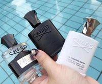 зеленый дезодорант оптовых-Creed Perfume 3шт set Дезодорант Аромат благовоний Ароматный Кельн для мужчин Серебряная горная вода / Creed aventus / Зеленый ирландский твид 30 мл