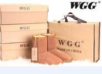 botas us14 venda por atacado-2019 Fábrica HOTClassic WGG Marca Mulheres populares Austrália Botas de Couro Genuíno Moda botas das mulheres Botas de Neve US4-US14