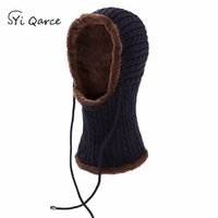 SYi Qarce Winter Super Warm Knitted Hat Skullies Beanie Gorras Bonnet Mask  Hat for Men s Women Outdoor Sports NM084-88 3b3daf292ec5
