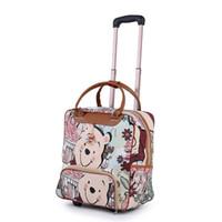 ingrosso borse cerchi donna-New Hot Fashion Women Trolley Bagagli Rolling Suitcase Brand Casual Stripes Borsa da viaggio valigia su ruote Bagaglio valigia