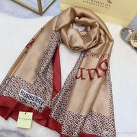 Wholesale new designs for silk printing resale online - Women Silk Scarves Brands scarf for Women New Design Hemming Long Scarves Shawls Wrap With Tag x90Cm Shawls Collar
