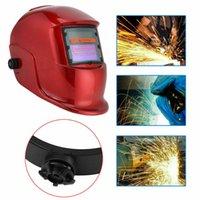 auto capacete de soldagem a arco venda por atacado-Pro auto Solar escurecimento de soldagem capacete TIG MIG arco de soldadura máscara máscaras polido RF