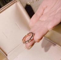 silberne knochenarmbänder großhandel-Luxus hochzeit schmuck frauen Sperpenti Viper serie cz ring schlange knochen armband ring sterling silber diamant ringe