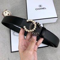 siyah inci kalitesi toptan satış-Yüksek dereceli kemer moda butik kadın kemer inci toka pürüzsüz toka kemer siyah kemerler vücut genişliği 3.4 cm kaliteli toptan A1234
