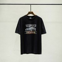 Wholesale race clothes online - 2019 Luxury Europe France High Quality Vetements Roadster Racing Car Tshirt Fashion Mens Designer T Shirts Women Clothes Casual Cotton Tee
