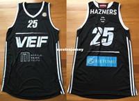 2c36f46ff11 Cheap #25 EDUARDS HAZNERS GAME USED BASKET JERSEY VEF RIGA LATVIA  EUROLEAGUE FIBA