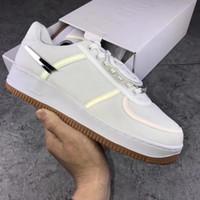 Wholesale synthetic shoes resale online - Travis Scott s Sail Air One M Men Designer Shoes Forces White Sneakers Trainers Dunk Canvas Sports Skate shoes Size