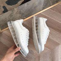 kadınlar için beyaz kauçuk ayakkabılar toptan satış-Lates Marka Tasarımcısı Rahat Ayakkabılar Erkekler Yüksek şeffaf kauçuk vakum alt Sneakers Kadınlar eğitmenler Beyaz Deri Platformu Ayakkabı 10