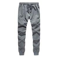 ingrosso pantaloni casual per gli uomini grigi-Nuovi Pantaloni da uomo Pantaloni da uomo Pantaloni sportivi Pantaloni sportivi Jogger grigio Casual Elastic Cotton GYMS Fitness Workout Pant