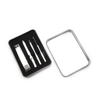 Wholesale nail tools resale online - 4Pcs set Steel Manicure Set Nail Tool Accessories Kits Scissor Nail Nippers Pusher Remover Cutter Clipper w gift box