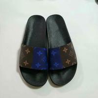 sandálias pretas alaranjadas venda por atacado-Sandálias de grife com caixa de laranja personalizado preto Homens mulheres sandálias de Luxo designer de impressão de couro Macio de borracha dos homens das mulheres chinelo tamanho 36-46
