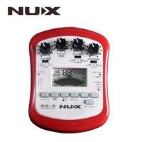 metrónomo del sintonizador al por mayor-NUX PG-2 Pedal con multiefectos para guitarra eléctrica portátil con afinador Metrónomo Puerta de ruido incorporada