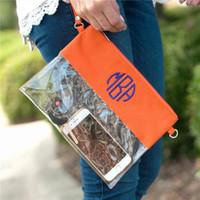 пластмассовые сумочки из пвх оптовых-Стадион прозрачный кошелек Персонализированные ПВХ прозрачный кошелек прозрачная пластиковая сумка женская сумка клатч 2019