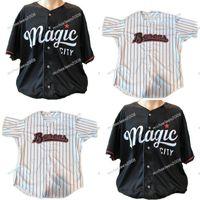 camisas personalizadas de calidad al por mayor-Mens Birmingham Barons White Black Custom Custom Double Stitched Shirts Jerseys de béisbol de alta calidad